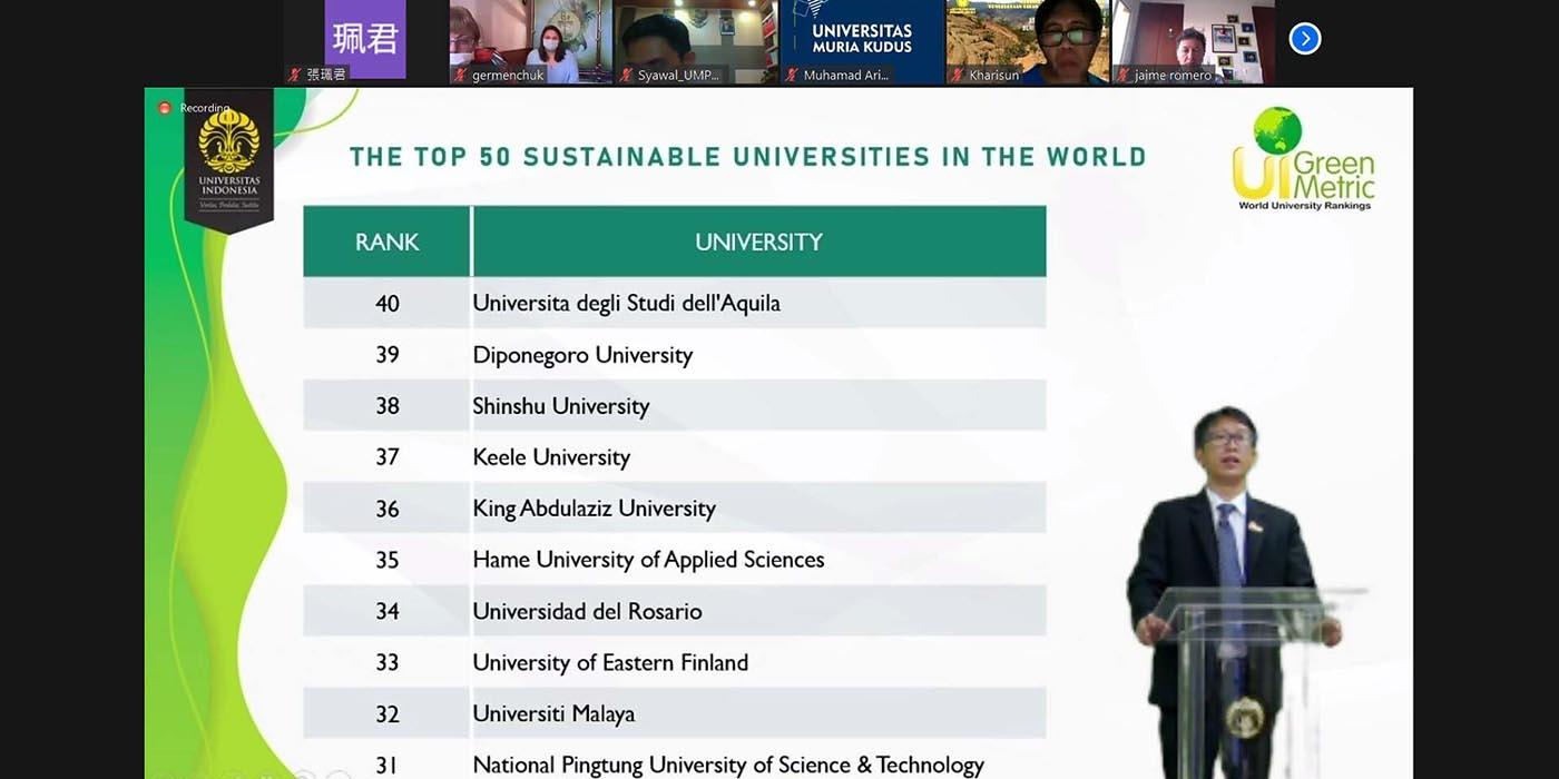 1091207-本校參與2020世界綠色大學評比再創佳績-精選圖片